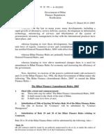 Bihar Finance Rules 2005