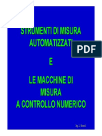 4. Gli Stumenti Di Misura Automatizzati e Le Macchine Di Misura