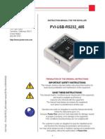 Pvi-usb-rs232 485-Installer Manual en Rev a m000009ag 0