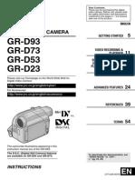 Manual GR-D23 53 73 93