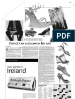 Patrick Cox - A Famous Footwear Expert