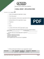 Fast Track Application Form Indicators FINAL