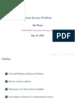 8 Linear Inverse Problem