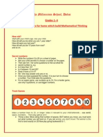 practical activities for home which build mathematical thinking