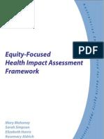 Equity Focused HIA Framework - ACHEIA Australia - 2004