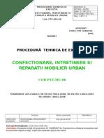 Pte-mu-08-Confectionare, Reparatii Si Intretinere Mobilier Urban
