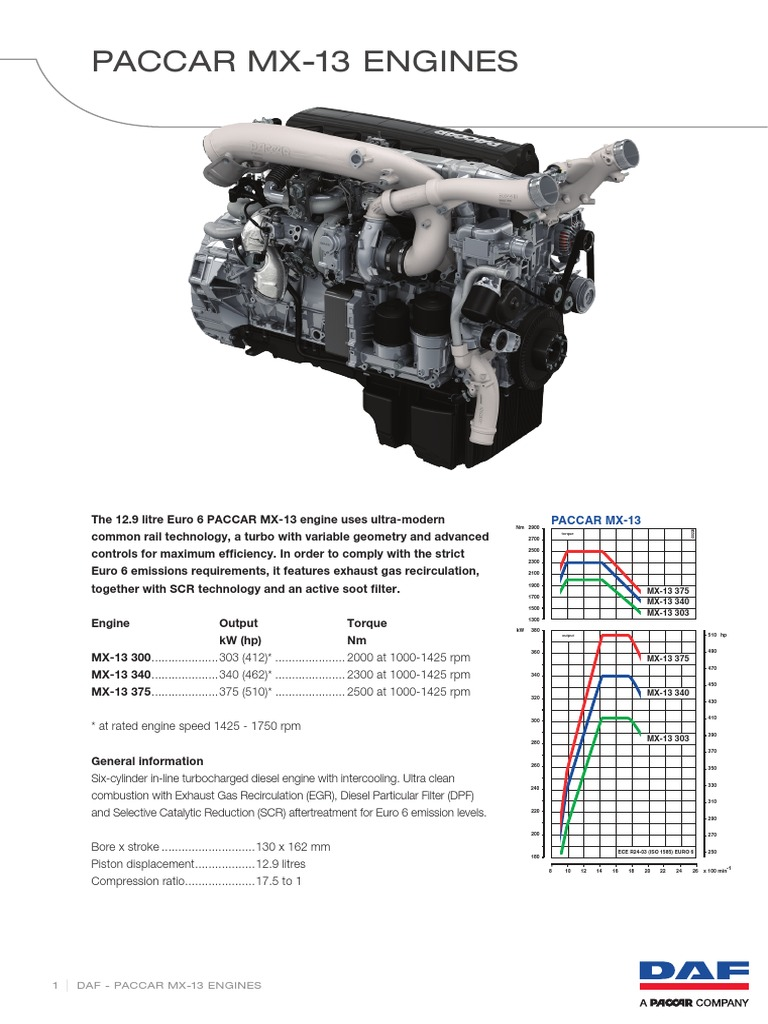 Paccar Mx 13 Euro 6 Engine 64739 En | Engines | Turbocharger