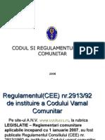 Cod Si Regulament Vamal UE