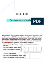 Developement of Surface