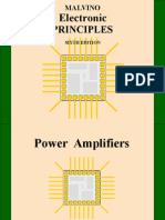 Electronic principles, powe amplifiers