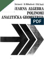 Mitrinovic- Analiticka geometrija
