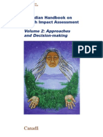 Canadian Handbook of HIA Vol 2 Approaches and Decision Making - HC Canada - 2004