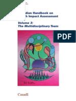 Canadian Handbook of HIA Vol 3 Multidisciplinary Team - HC Canada - 2004