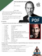 Steve Jobs Student Worksheet