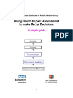Using HIA for Better Decisions a Simple Guide - NHSEWM UoB