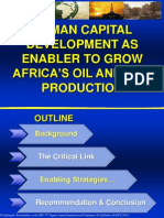 Human Capital Development as Enabler to Grow Africa's Oil and Gas Production