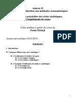 Annexe II Traitements Préalables Sur Les Séries (1)