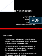 Oracle WMS Directions