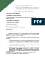 Orientaciones para presentación del trabajo final