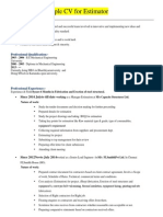 Estimator Recruitment Sample CV