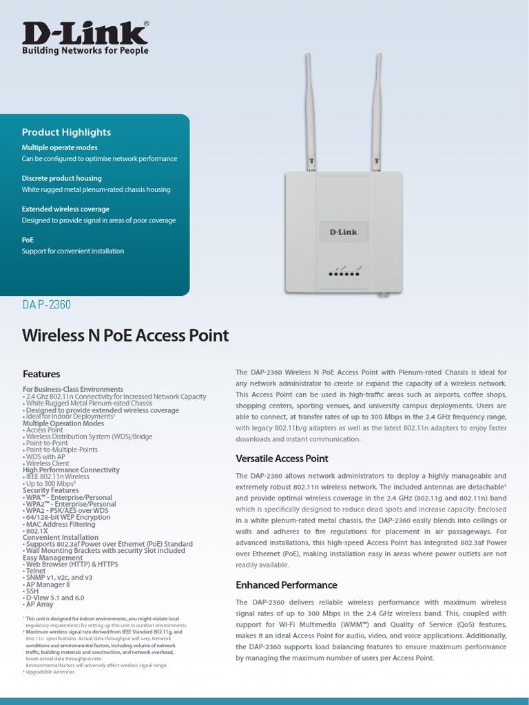 DAP 2360 Datasheet en UK   Wireless Lan   Wireless Access Point