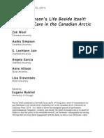 """Book Forum - Lisa Stevenson's """"Life Beside Itself"""""""