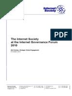 The Internet Society at the IGF 2010