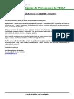 Correção FECAP - Exame de Suficiência CFC - 2014-01 - FECAP