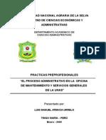 Proceso Administrativo en La Oficina de Mantenimiento