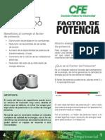 Factor de Potencia CFE