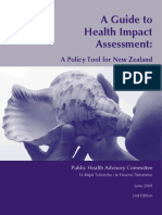 Guide to HIA a Policy Tool for NZ 2nd Ed- PHAC New Zealand - 2005