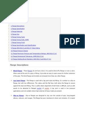ASME B16 5 | Pipe (Fluid Conveyance) | Gas Technologies