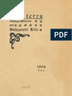Libro Sub Terra, Baldomero Lillo, Año 1904
