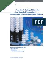Acrodics Syringe Filiter for HPLC