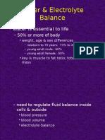 Water & Electrolyte Balans