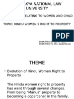 HINDU WOMAN RIGHT TO PROPERTY