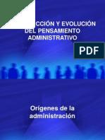 2. INTRODUCCIÓN Y EVOLUCIÓN DEL PENSAMIENTO ADMINISTRATIVO  1.ppt