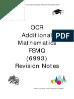 fsmq additional mathematics revision notes