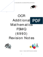 fsmq additional mathematics revision notes