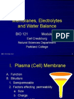 Membrane, Electrolyte and Water Balance