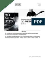 Paul Wardingham Metal Lick8 Tab