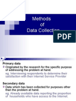 Methods of Data Collection & Questionnaire