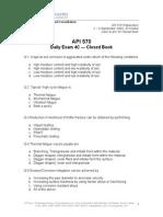 API 570 Daily Exam