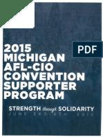 Michigan AFL-CIO Convention Supporter Program