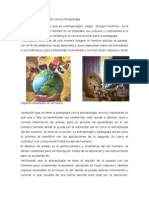 Pedagogía  y su relación con la Antropología