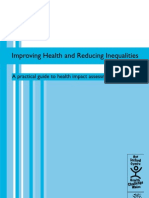 Improving Health and Reducing Inequalities a Practical Guide to HIA - WAG Wales- 2004