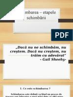 Schimbarea - Etapele Schimbarii_prezentare