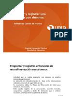 Agendar y Registrar Entrevistas Sgp