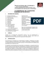 Silabo Ingenieria Proyectos II Abril 2015