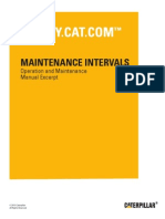 CATERPILLAR - Maintenance Interval Schedule